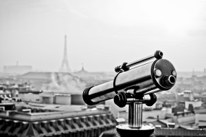 View from the rooftop Galeries Lafayette