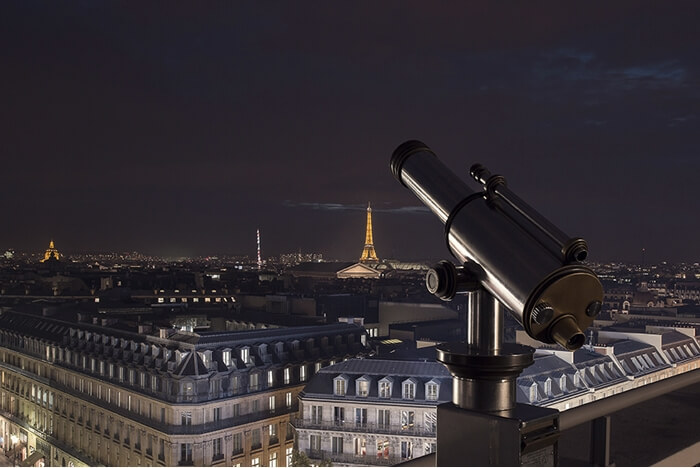 haussman gallerie lafayette rooftop view