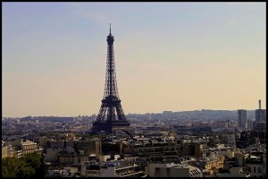Eiffel Tower view from the 15th arrondissement